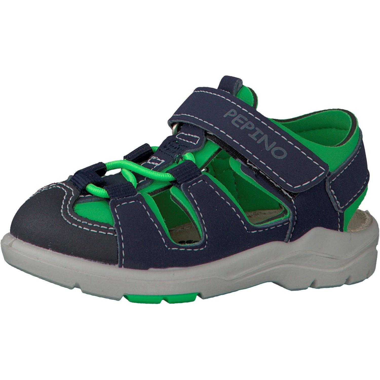 Ricosta Boys' Gery Sandals, Blau (Nautic/Neon Green), 8 UK