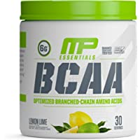 MusclePharm Essentials BCAA Powder, Post-Workout Recovery Drink, Lemon Lime, 30 Servings