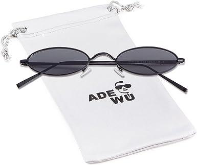 ADEWU Gafas de sol retro Gafas rectangulares Moda Gafas peque/ñas para mujeres Hombres