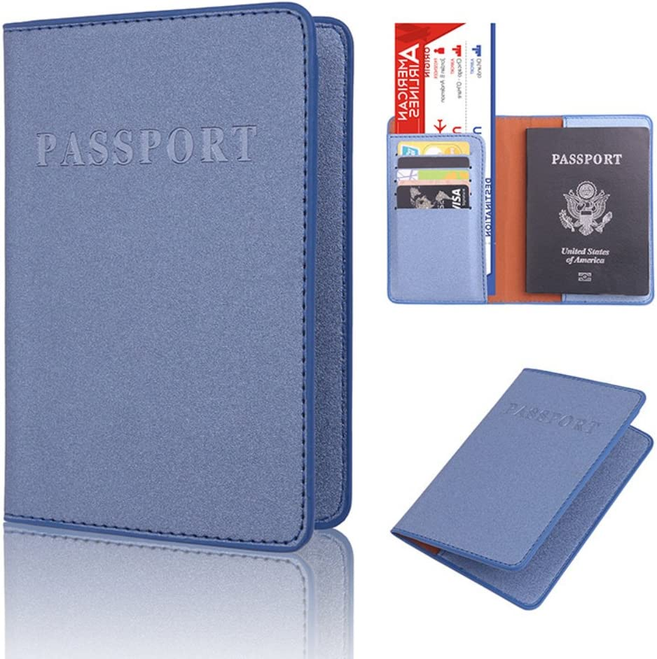 856store Clearance Sale Solid Color Faux Leather Travel Passport Holder Cover ID Card Ticket Pouch Bag Red