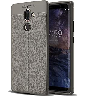 buy popular 7f1bb 48ec5 Spadekart Leather Pattern Back Cover Case for Nokia 7: Amazon.in ...