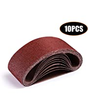 Bande Abrasive, Ceinture Abrasive, Tacklife Lot de 10PCS, 75 X 457mm pour Ponceuse à Bande 2 x 40/60 / 80/100 / 120 | ASB01A