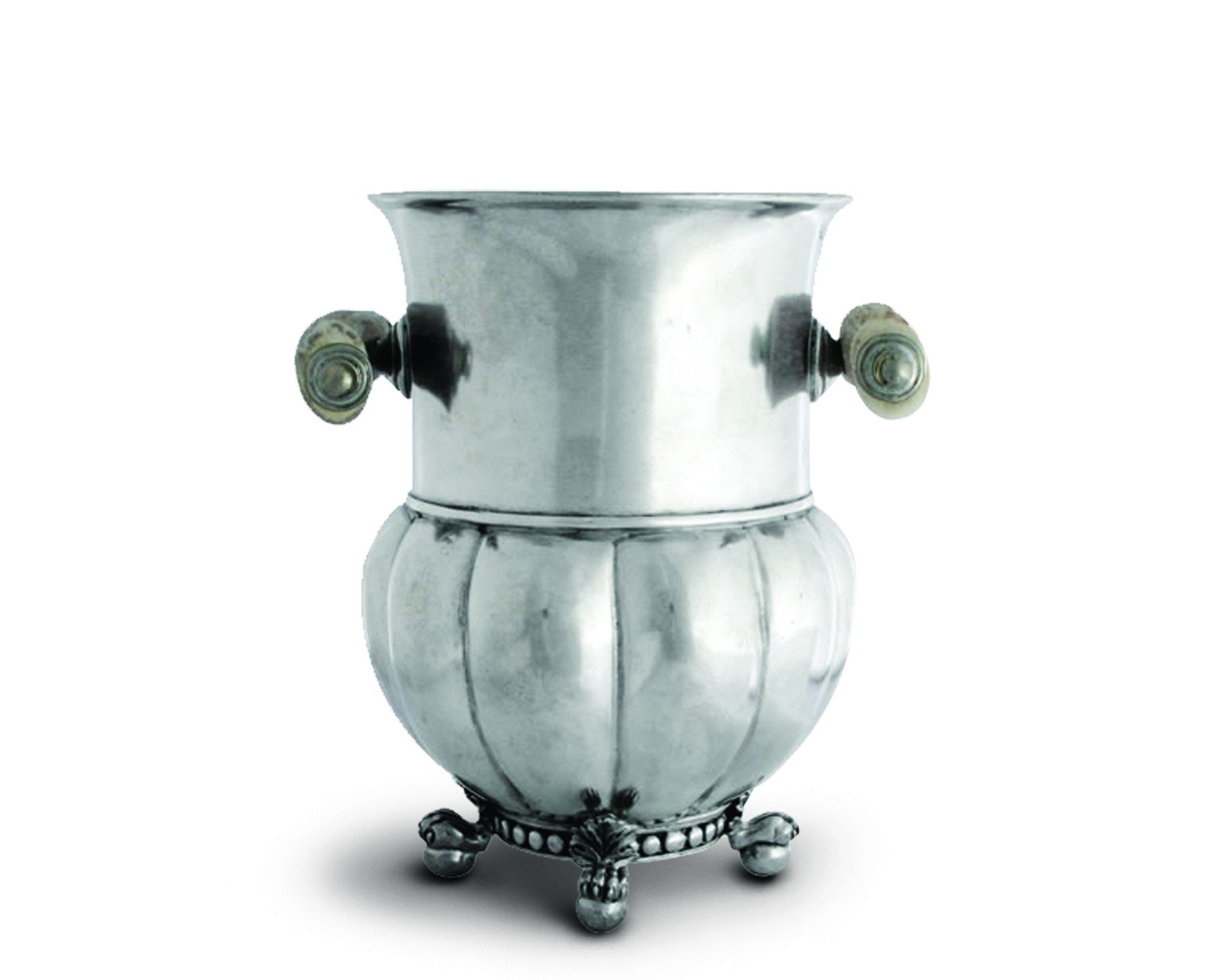 Vagabond House Medici Pewter Ice/Wine / Champagne Bucket with Antler Handle 8.75'' Tall