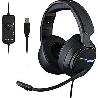 THE G-LAB Korp THALLIUM Cascos Gaming USB 7.1 Digital Surround - Auriculares Gaming - Micrófono con cancelación de ruido…