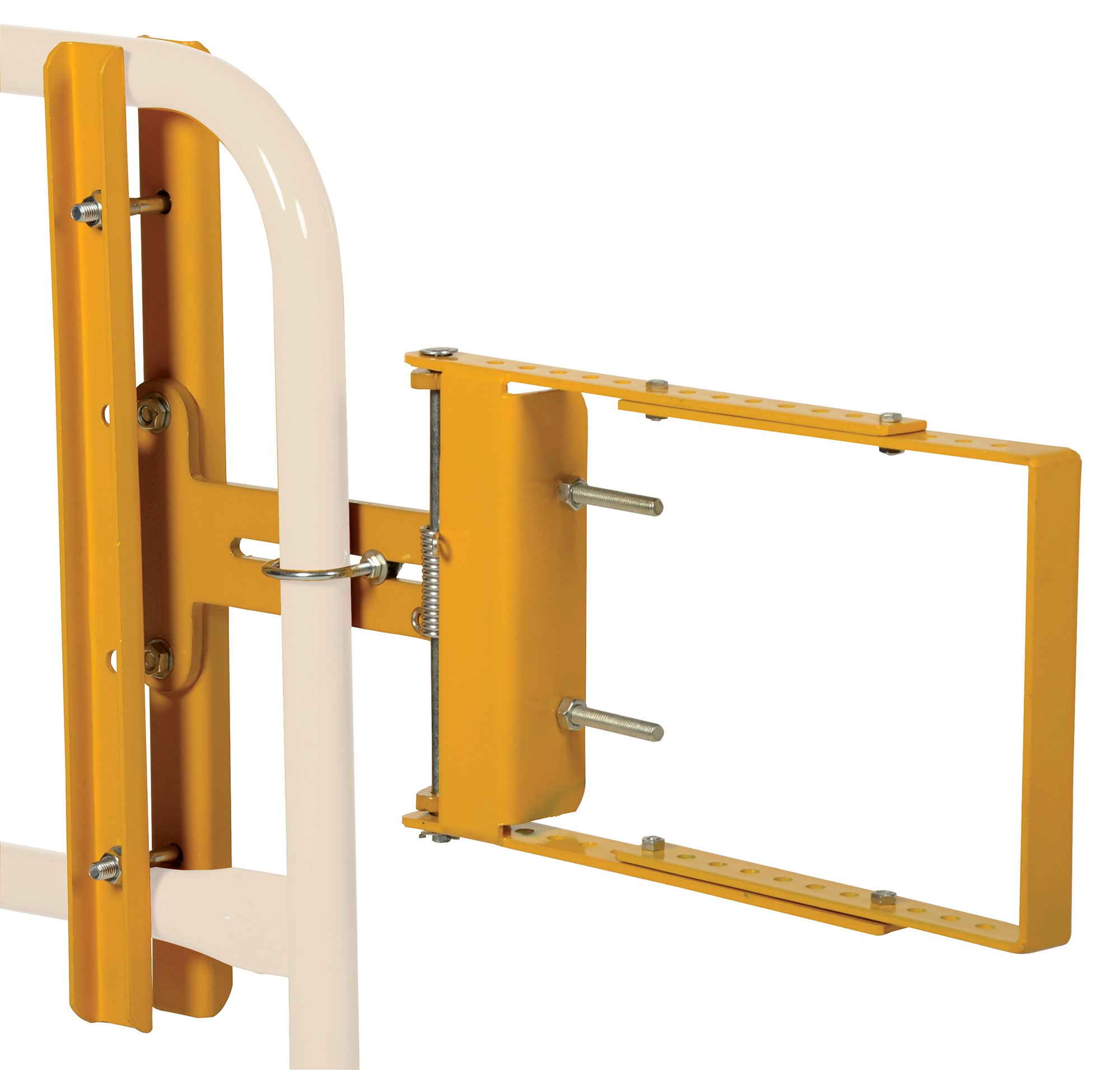 Vestil SPG-26-Y Self-Closing Steel Gate with Yellow Powder Coat Finish, 16'' - 26'' Opening Width, 12'' Height