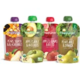 Happy Baby Organic Clearly Crafted Stage 2 Baby Food Variety Pack, Pear Squash & Blackberries, Apple Kale & Avocado…