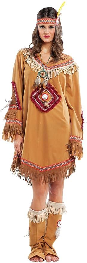 chiber Disfraces Disfraz de India Navajo Mujer Adulta (L - Grande ...