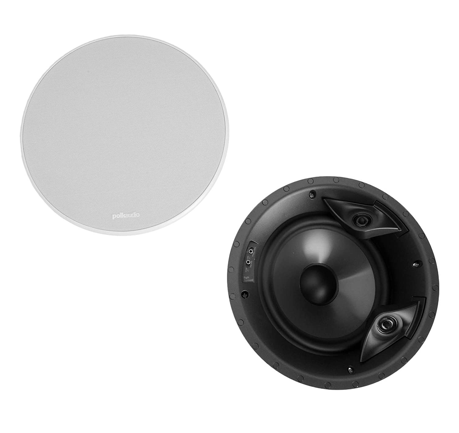 "Polk Audio 80F/X-Ls High Performance in-Ceiling Surround Loudspeaker with Dual Tweeters and 8"" Driver"