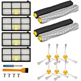 Landove Replacement Parts Kit for Iobot Roomba 800 and 900 Series 805 860 870 871 880 890 960 980 Vacuum Cleaner Accessories Including Debris Extractor Set,Side Brush and Filters