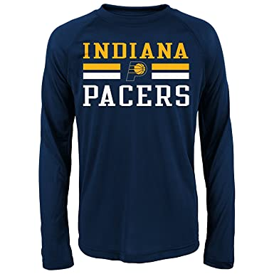 on sale 6319e 82048 Amazon.com: Indiana Pacers Navy Performance Long Sleeve ...