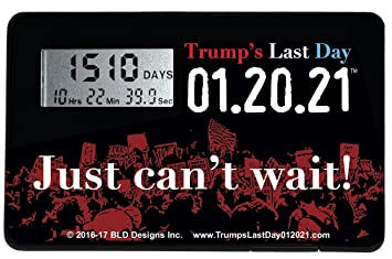 Amazon.com: Trump's Last Day 01.20.21 Countdown Clock (1 Clock ...