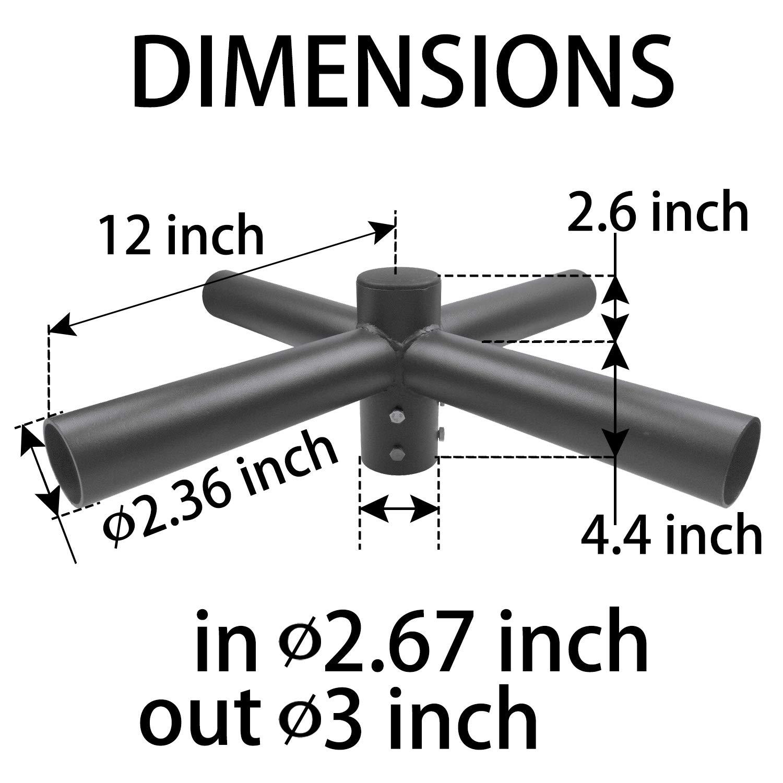 1000LED Tenon Adaptor Bracket for 5 inch Square Pole, Light Pole Adapter for Slip Fit Mounting, Parking Lot Light, LED Shoebox Light 1000 LED INC