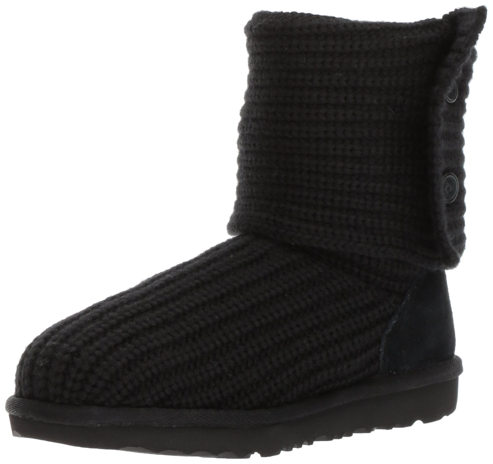 UGG Girls K Cardy II Pull-on Boot, Black, 10 M US Toddler