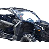 SuperATV Heavy Duty Clear Full Windshield for Can-Am Maverick X3 900 / Turbo /