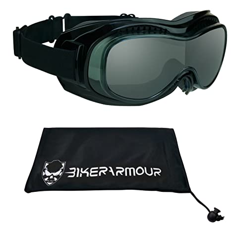 4ea94bca35 Amazon.com  Motorcycle Safety Goggles Over Rx Prescription Glasses ...