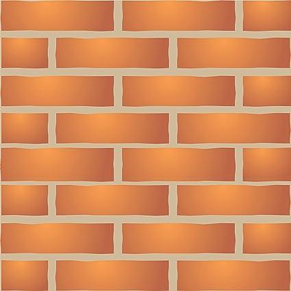 Ladrillo Pared plantilla - reutilizable de pared plantillas para ...