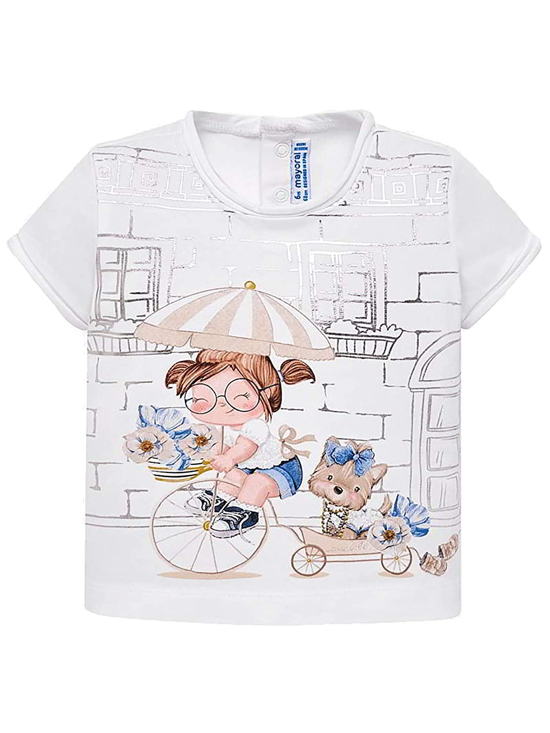 Mayoral Whit-Champ S//s t-Shirt for Baby-Girls 1010