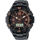 [シチズン キューアンドキュー]CITIZEN Q&Q 電波ソーラー腕時計 SOLARMATE (ソーラーメイト) アナログ表示 クロノグラフ機能付き 10気圧防水 ウレタンバンド