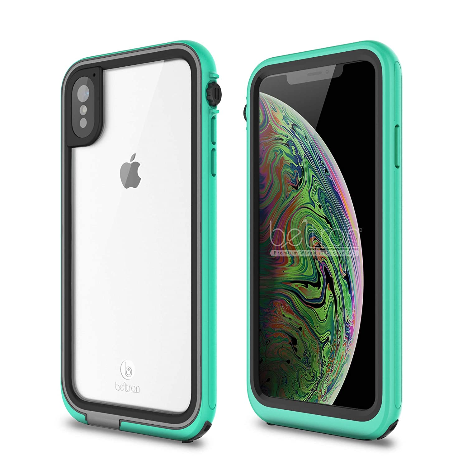 low priced e3a10 0780f BELTRON aquaLife iPhone Xs MAX Waterproof, Shock & Drop Proof, Dirt Proof,  Heavy Duty Case (IP68 Rated, MIL-STD-810G Certified) Features: Built-in ...