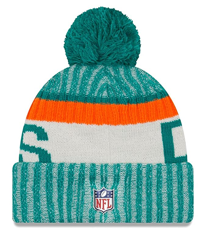 finest selection 404ee aa826 Amazon.com   Miami Dolphins New Era 2017 NFL Sideline On Field
