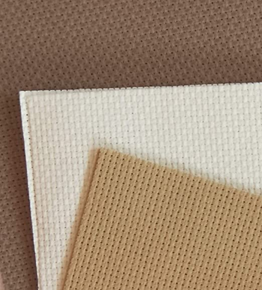 KCS 12 x 18 by 3 Pack 14CT Counted Cotton Aida Cloth Cross Stitch Fabric White Opal+Olive+Grey