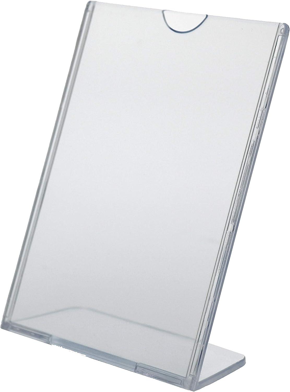 Plastic Premium Acryic Frame 8.5 x 11 Lot of 12 Marketing Holders Superior Image L-Frame Top Load Slanted Desktop Sign Holder