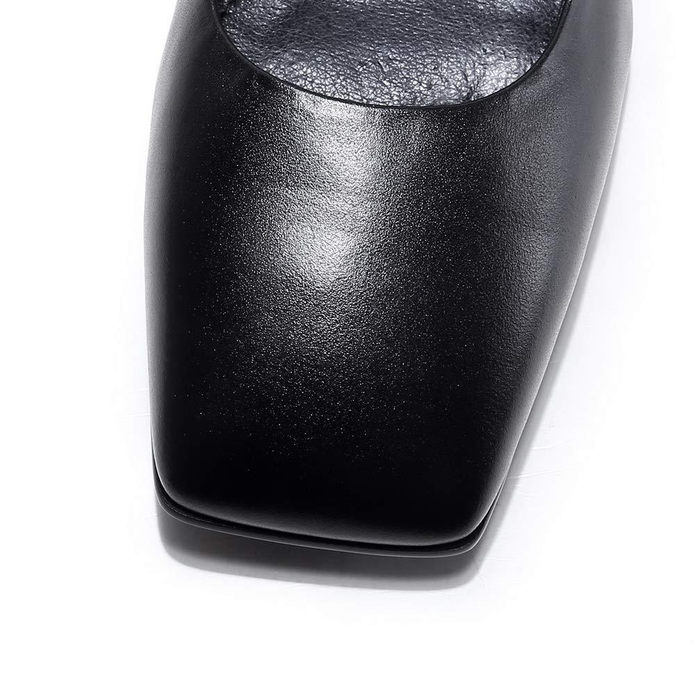 AN DGU00935, Damen mit Durchgängies Plateau Sandalen mit Damen Keilabsatz, Schwarz - Schwarz - Größe  EU 37 108a81