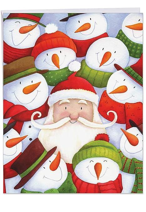 Amazon.com: Papá Noel Selfies Navidad Funny tarjeta de ...