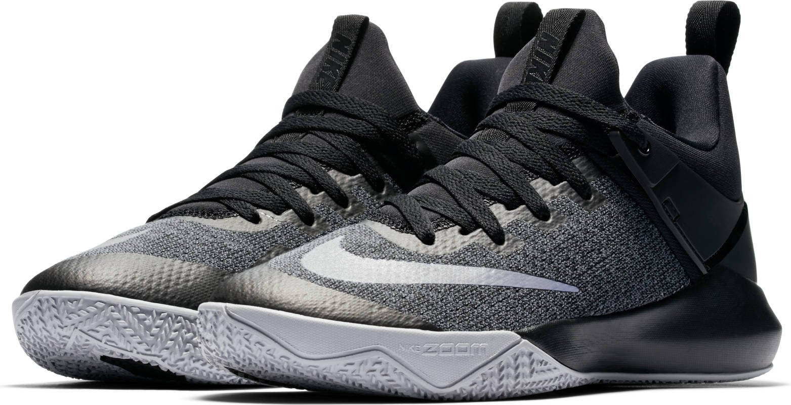 Women's Nike Zoom Shift Basketball Shoe Black/Chrome/Wolf Grey Size 7 M US by NIKE (Image #1)