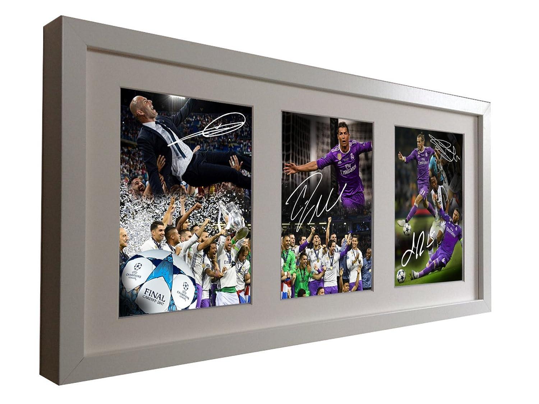 Real Madrid. Weiß signierte Fotodrucke von \