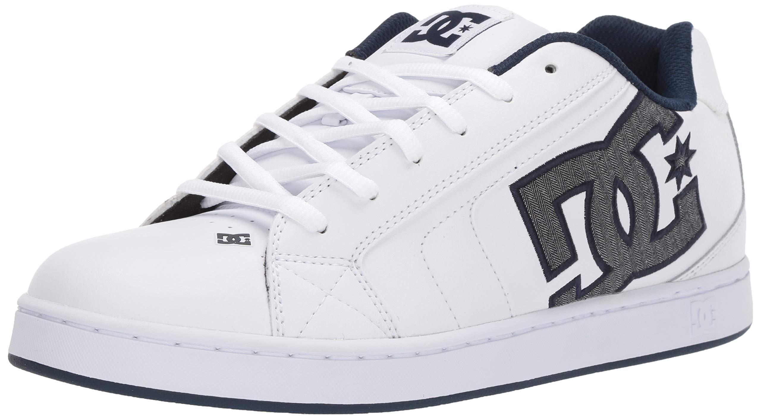 DC Men's Net Se-K Skate Shoe, White/Battleship, 11 M US