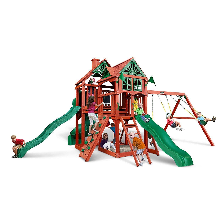 Gorilla Playsets Big Timber cedarスイングセット B07FXM46HK