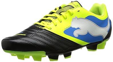 PUMA Powercat 4 FG Boys Soccer Boots Cleats-Black-6 7419200c4