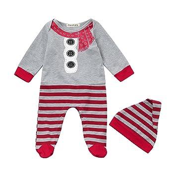 b327da74e3ad Amazon.com   Christmas Rompers Newborn Baby Boys Girls Long Sleeves ...