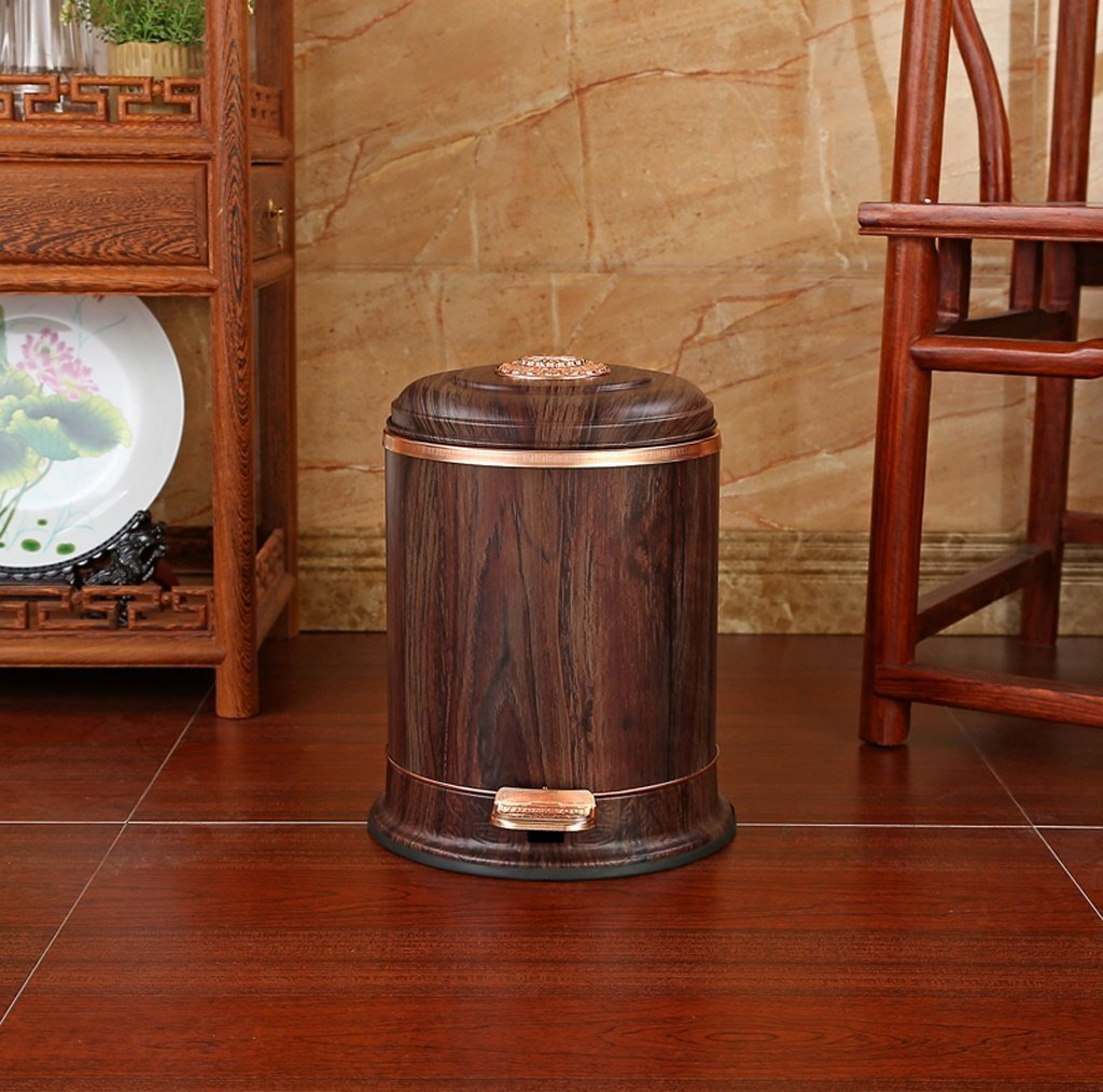 ZHAS Papelera Pedal Pedal Pedal casa silencio cubierto baño cocina descendente cesta de papel higiénico (Color :  2) e29663