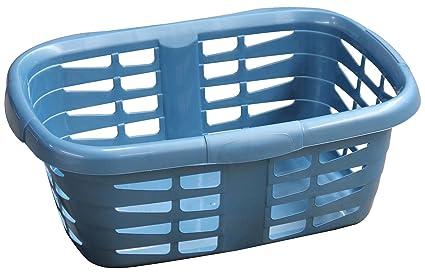 Carrefour Home CAR1044-144 45L Ovalado De plástico Azul - Cesto para ropa (45