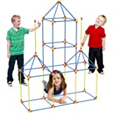 YF Funyole Fort Building Kit for Kids, 90 Pieces Flexible Construction Fort Set for Boys and Girls, DIY Building Castles…
