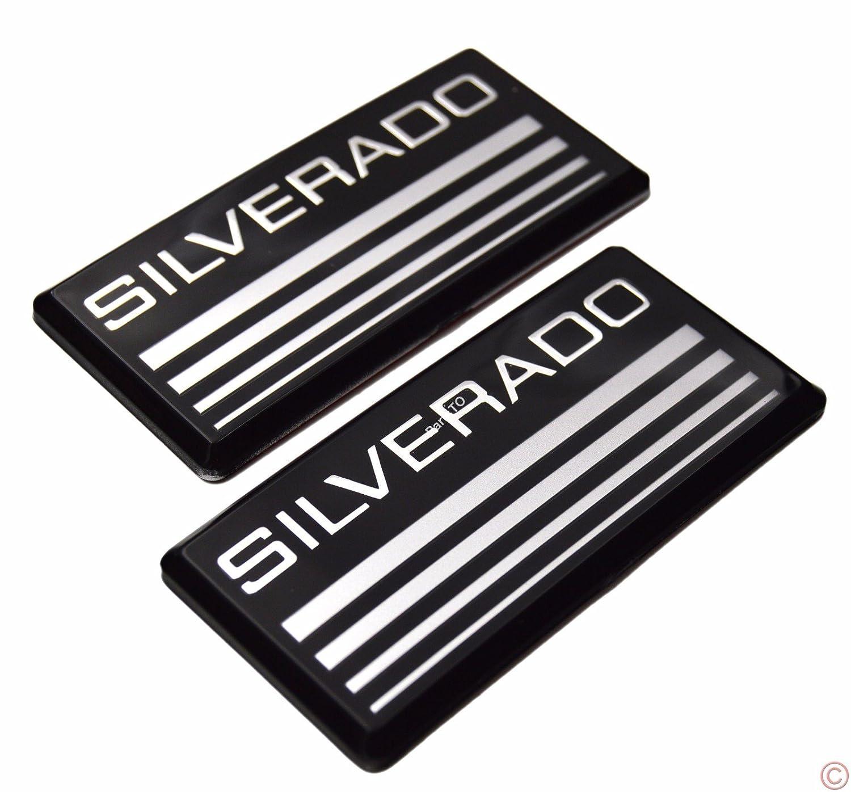 2x PartsTo Cab Emblem Badge Side Roof Pillar Decal Plate for Chevy Silverado 88-98 90 91 Suburban Tahoe C//K Series Blazer