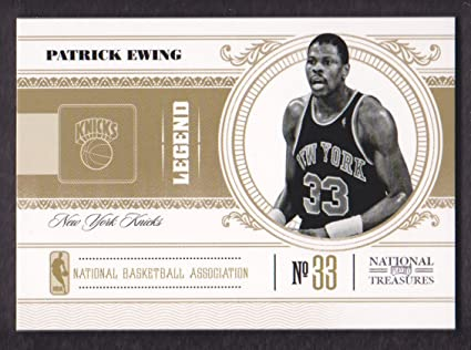 af3fa153542 2010-11 Playoff National Treasures Basketball #141 Patrick Ewing /99 ...