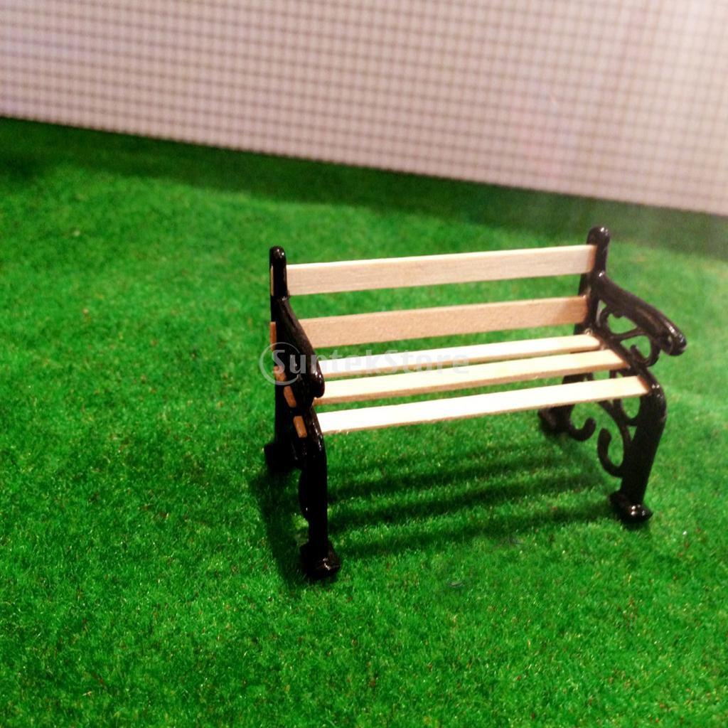 Amazon.com: Garden Patio Furniture Park Bench 1/24 Dollhouse Miniature:  Toys U0026 Games