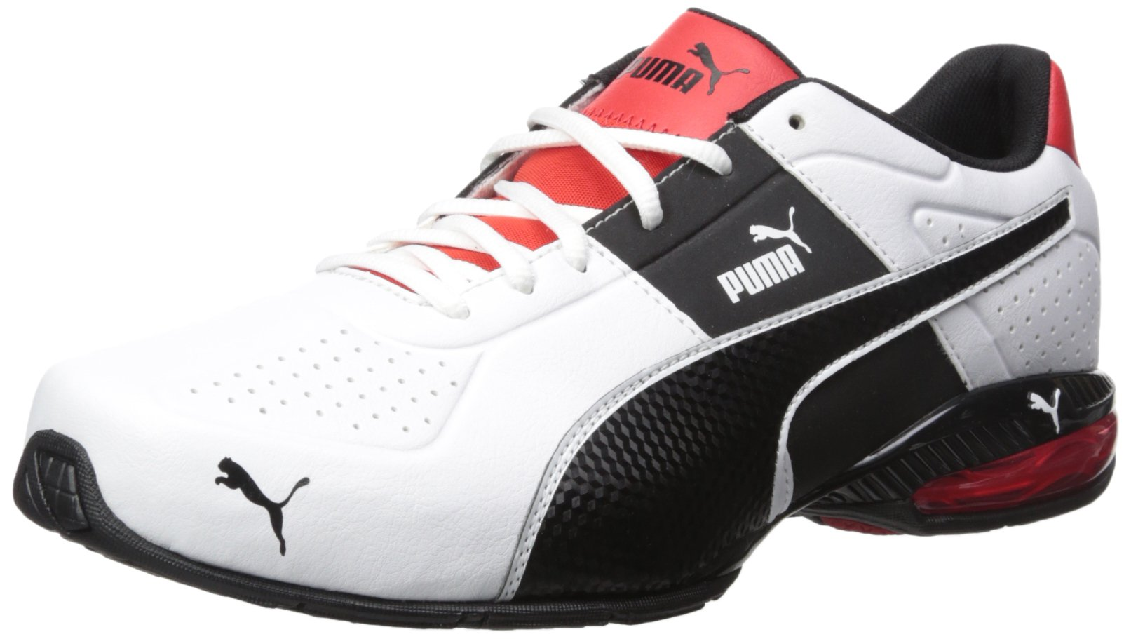PUMA Men's Cell Surin 2.0 FM Sneaker White Black, 9.5 M US by PUMA