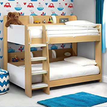 Happy Beds Domino Maple And White Finished Sleep Station Childrens