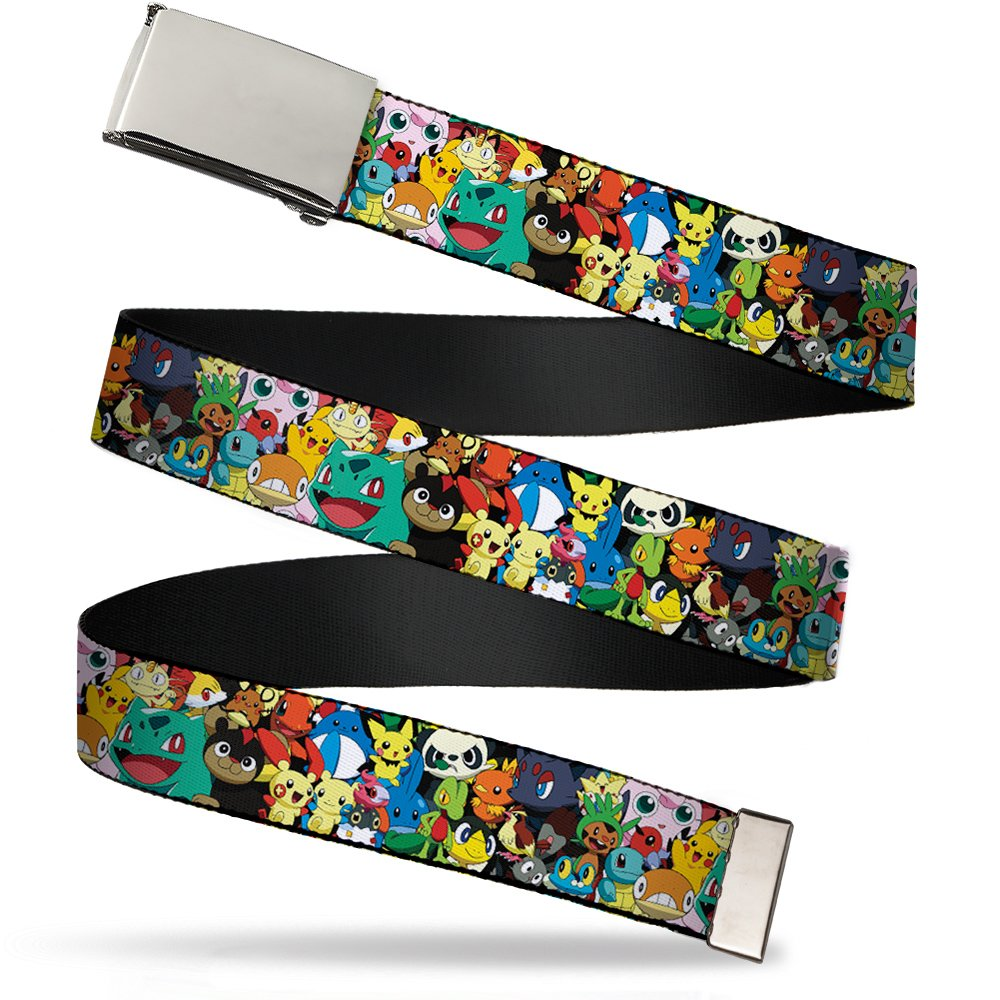 Buckle Down mens Buckle-down Web Belt Pokemon 1.25 Belt