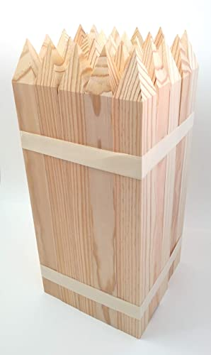25 Estacas madera pino - jardín - Señalización 40 x 3,5 x 3,5 cm - set de 25 unidades: Amazon.es: Handmade