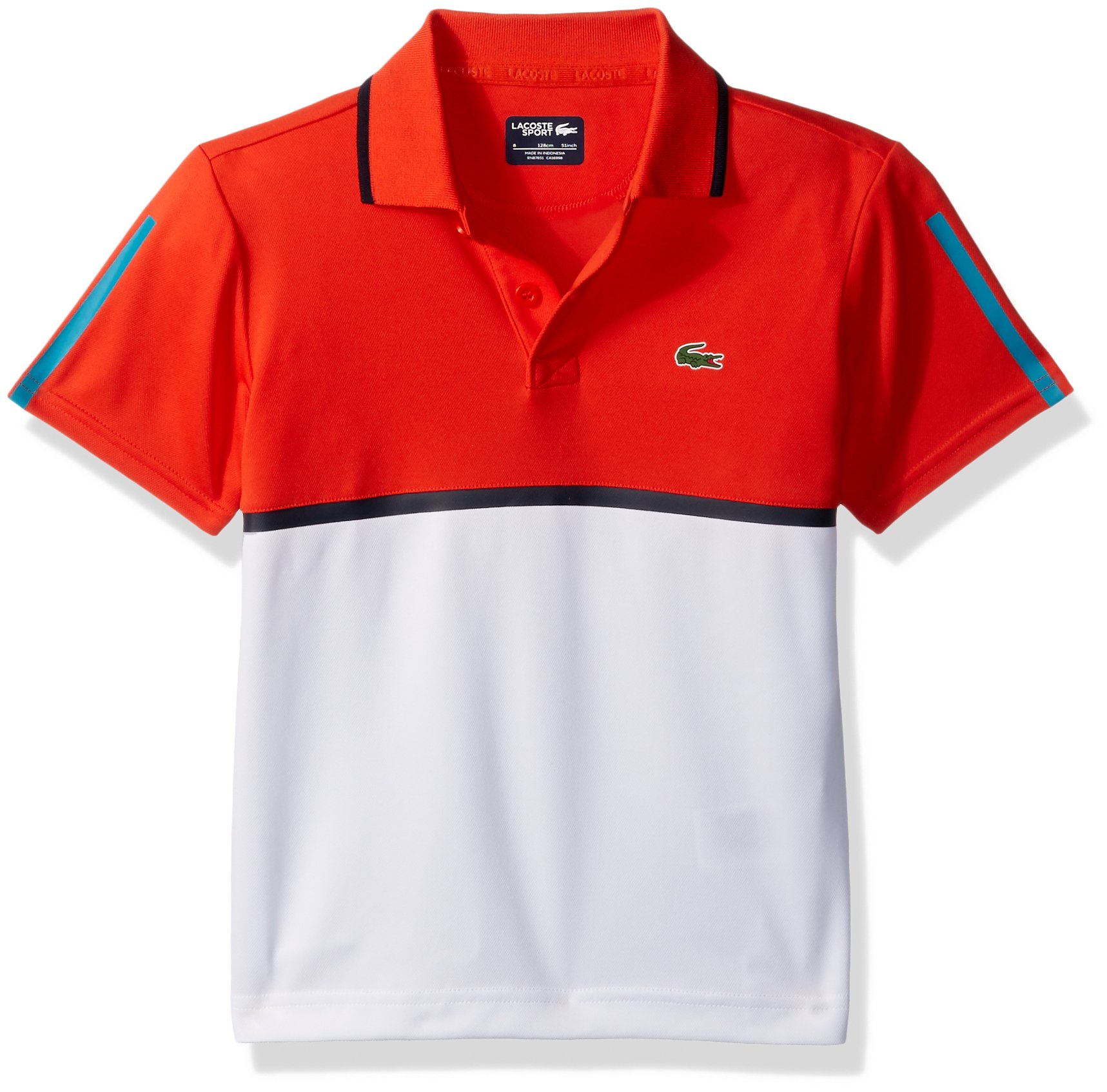 432fdf018532ad Galleon - Lacoste Big Boys  Sport Colorblock UltraDry Polo Shirt ...