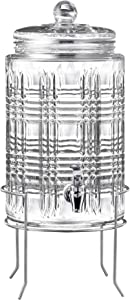 Fitz and Floyd Portland 2 Gallon Beverage Dispenser With Silver Stand