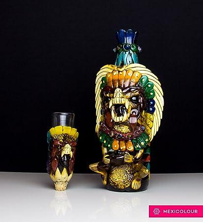 Tequila botella mexicano piedra obsidiana Shaman Guerrero ...