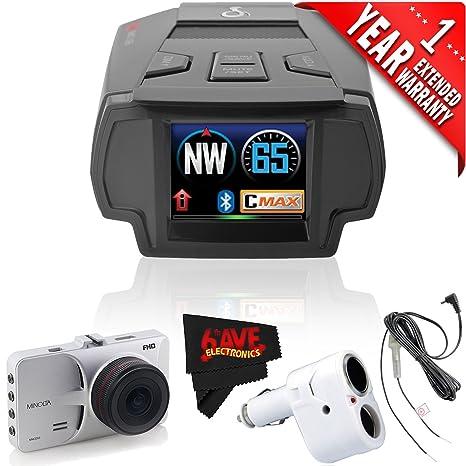 Cobra Electronics SPX 7800BT Radar/Laser/Camera Detector + Minolta MNCD53-SDashboard Camera