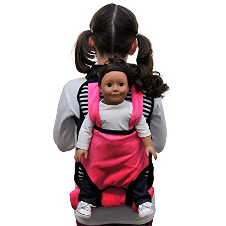 The Queens Treasures Pink White Black Soft Plush Child Size Backpack With Built