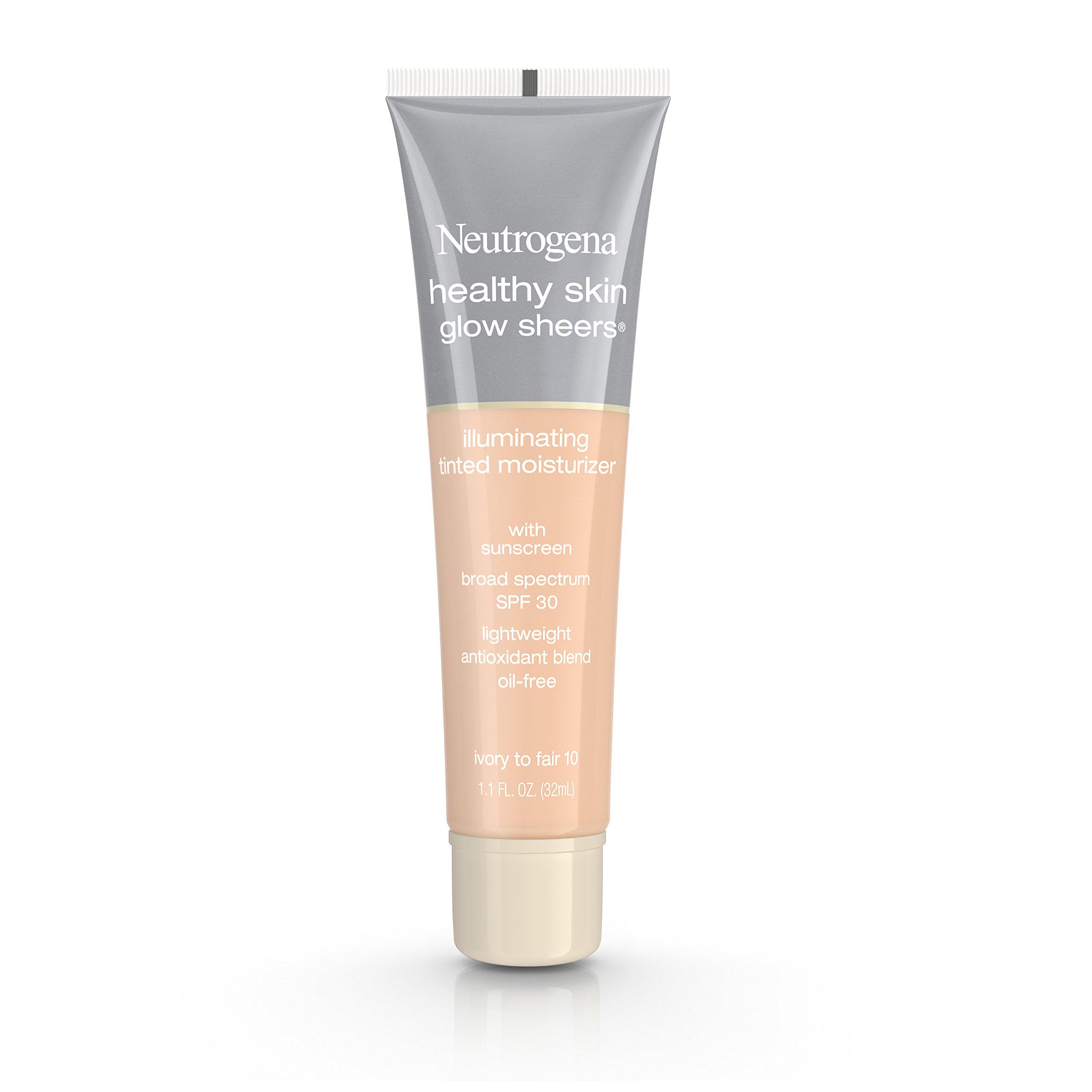 Neutrogena Healthy Skin Glow Sheers Broad Spectrum Spf 30, Ivory To Fair 10, 1.1 Oz.